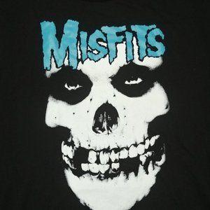 Misfits Graphic Skull Band Tee T-Shirt Top XL NEW